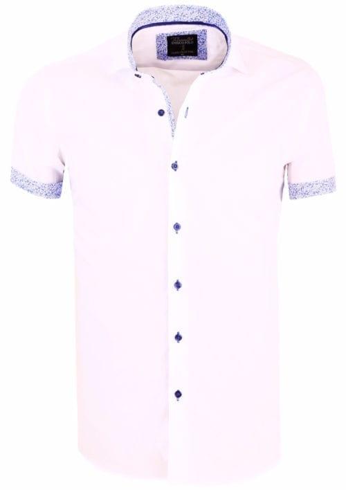 Overhemd Korte Mouw Heren Wit Goedkoop Online Enrico Polo()