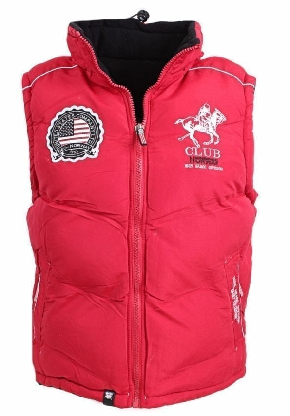 Geographical Norway bodywarmer rood