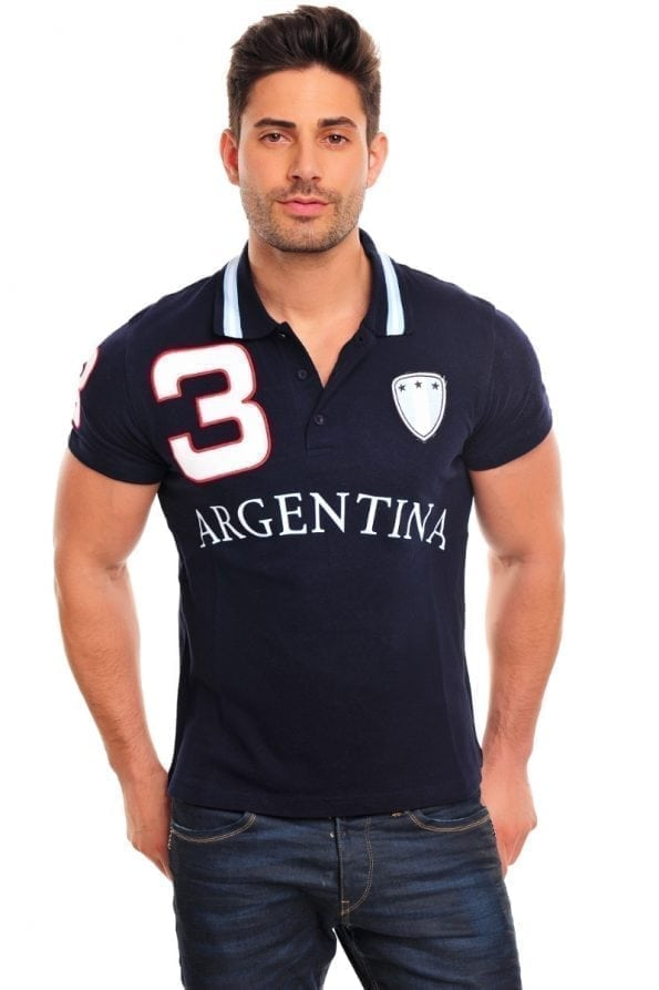 Poloshirt Argentina blauw