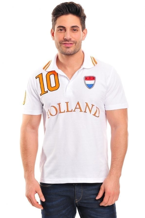 Poloshirt Holland wit