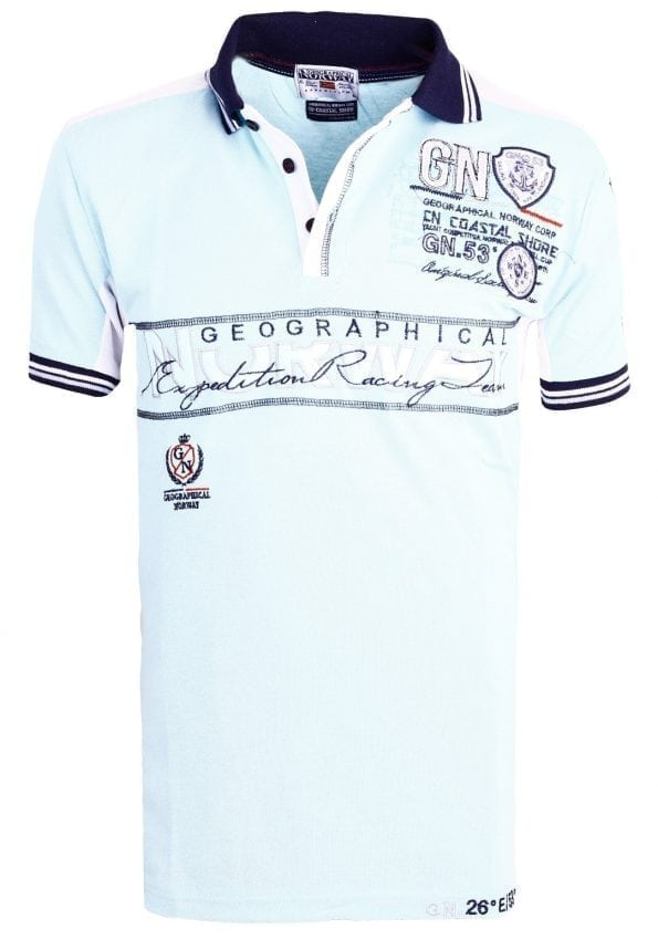 Geographical_Norway_Heren_Poloshirts_polo's_Kapable_Bendelli_Lichtblauw_ (18) (Large)
