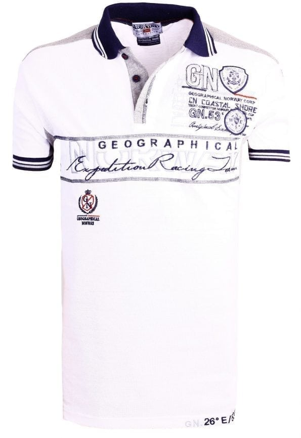 Geographical_Norway_Heren_Poloshirts_polo's_Kapable_Bendelli_Wit_ (13) (Large)