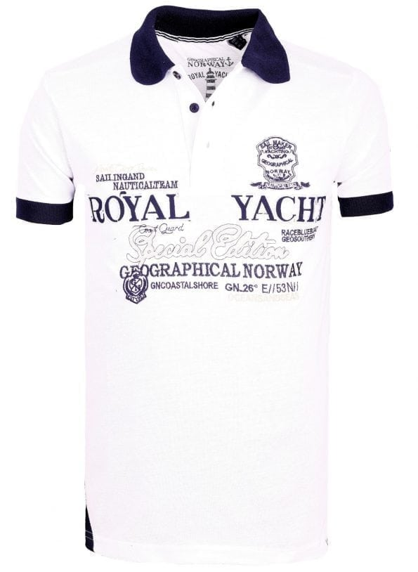 Geographical_Norway_Heren_Poloshirts_polo's_Kerlaz_Bendelli_Wit (9) (Large)