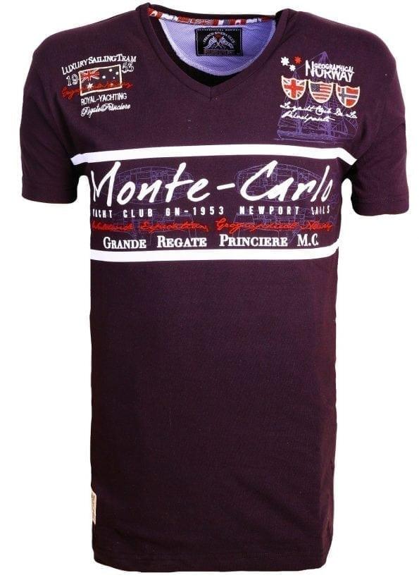 Geographical_Norway_Heren_Shirts_Tshirt_Jasmin_Monte_Carlo_Salingteam_Zwart voor
