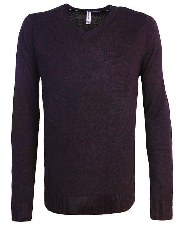 Kariban Heren Pullover V-hals 100% Katoen Zwart