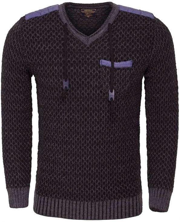 wam-denim-gebreide-heren-truien-vhals-tunnelkoord-77058-zwart-grijs-bendelli (2)