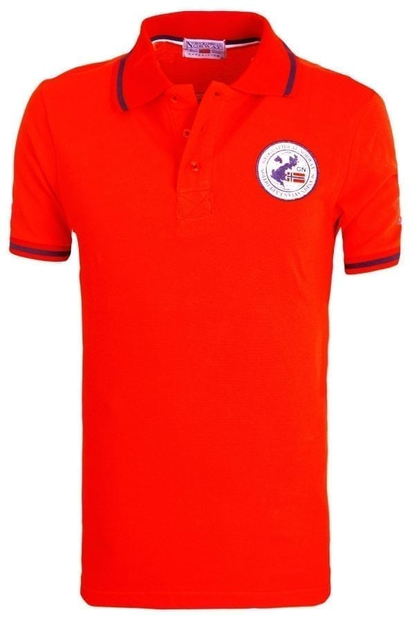 Heren Poloshirt Geographical Norway Logo op de Borst Kamelo Polo Rood (4) (Groot)
