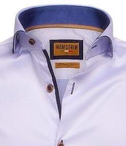 Blauw-overhemd-heren-enkele-kraag-Cute-away-boord-Wam-Denim-Egyptisch-katoen-Bendelli-langemouw-75508 (2)