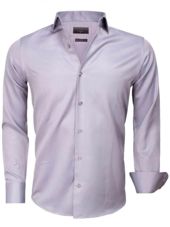 Goedkoop heren overhemd effen grijs 65012 CASERTA