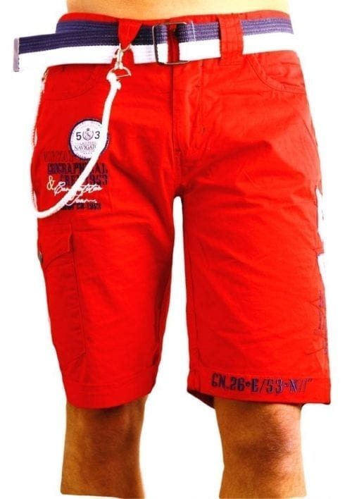 Geographical Norway Heren Bermuda Korte Broek Pinacolada Bendelli Rood  Large