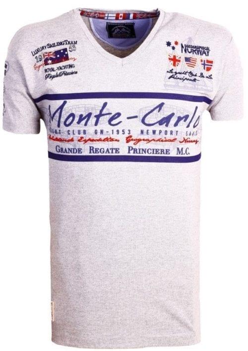 Geographical Norway Heren Shirts Tshirt Jasmin Monte Carlo Salingteam Grijs  Large