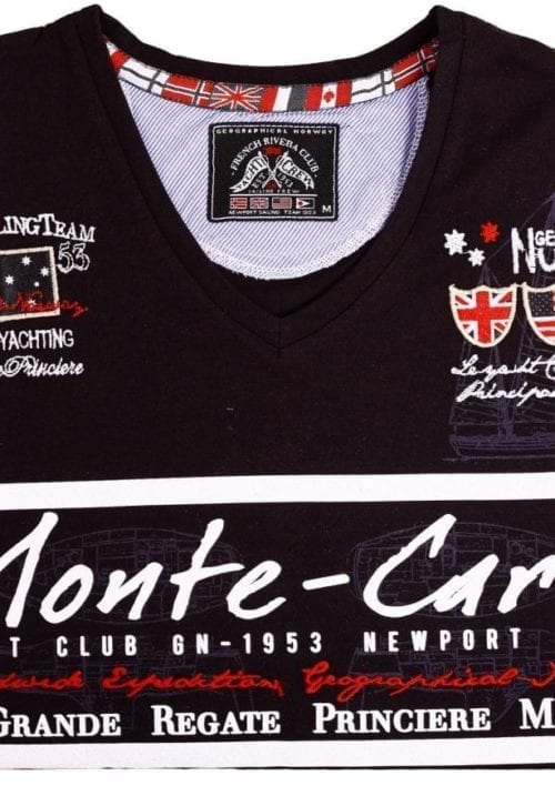 Geographical Norway Heren Shirts Tshirt Jasmin Monte Carlo Salingteam Zwart  Large