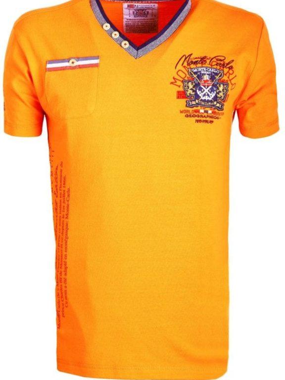 Geographical Norway Shirts Tshirts Heren Jalium Bendelli Oranje  Large