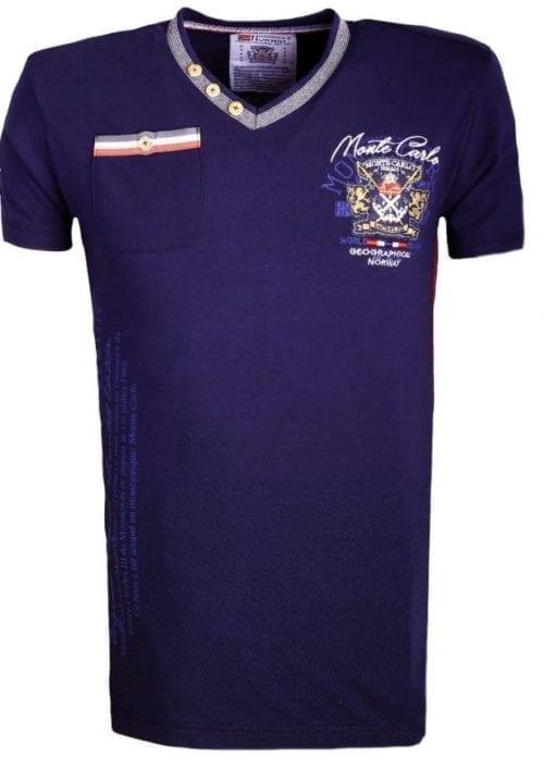Geographical Norway Shirts Tshirts Heren Japolitan Bendelli Blauw  Large