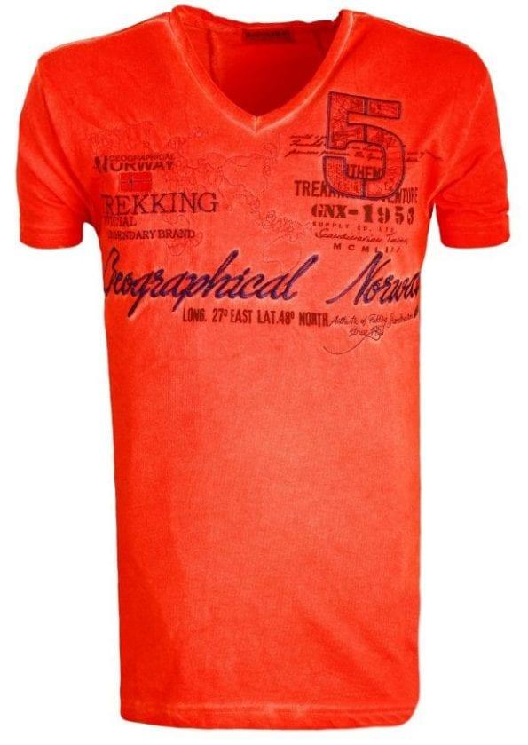 Geographical Norway Shirts Tshirts Heren Japolitan Bendelli Rood  Large
