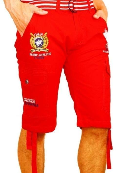 Korte Broek Heren Bermuda Rivaldi Goedkoop Polo Club Rood  Large