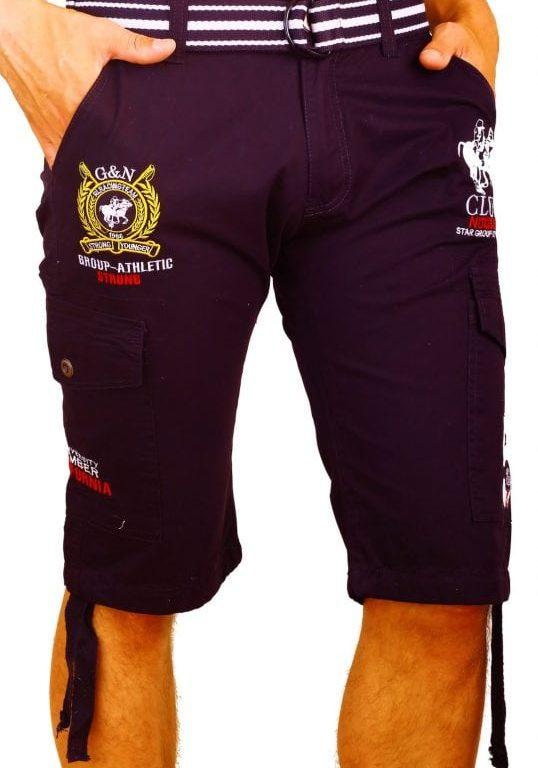 Korte Broek Heren Bermuda Rivaldi Goedkoop Polo Club Zwart  Large