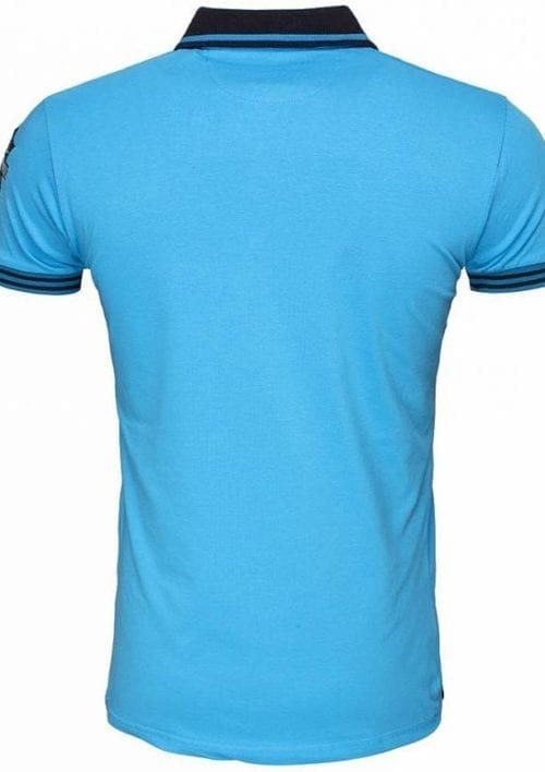 PoloshirtsherenKorteMouwWamDenimLogoMerkTurquoise