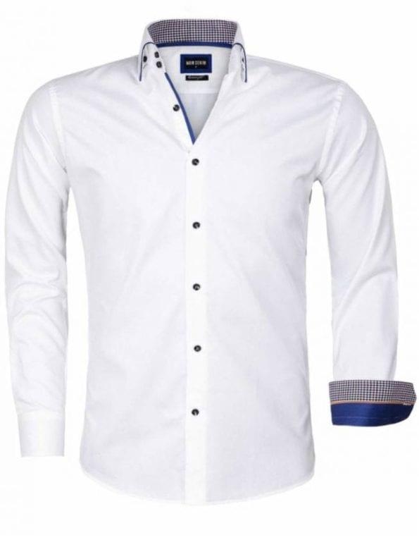 Wam Denim overhemd wit Isernia 75559 voorkant