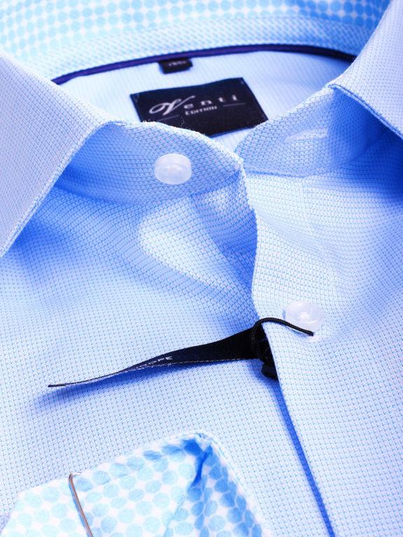 Strijkvrije overhemden van venti blauw gewerkt 193133600-350 (2)
