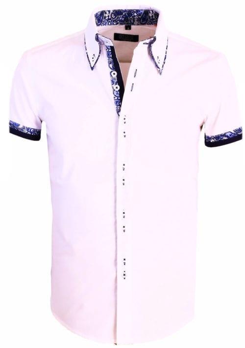 Korte Mouw overhemd wit bendelli herenmode()bicu