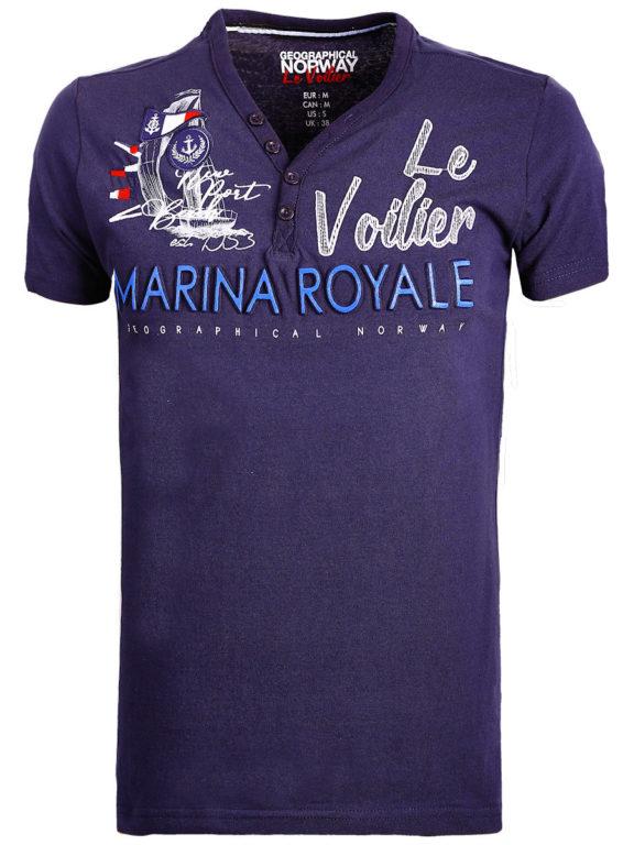 Geographical Norway t shirt heren marina royale blauw joiles bendelli()