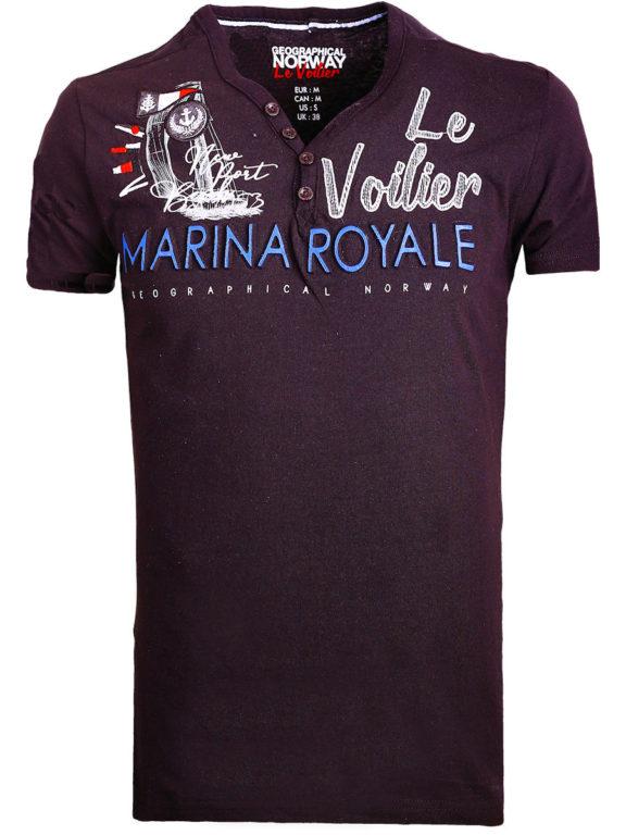 Geographical Norway t shirt heren marina royale zwart joiles bendelli()
