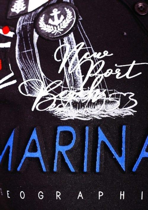 Geographical Norway t shirt heren marina royale zwart joiles bendelli