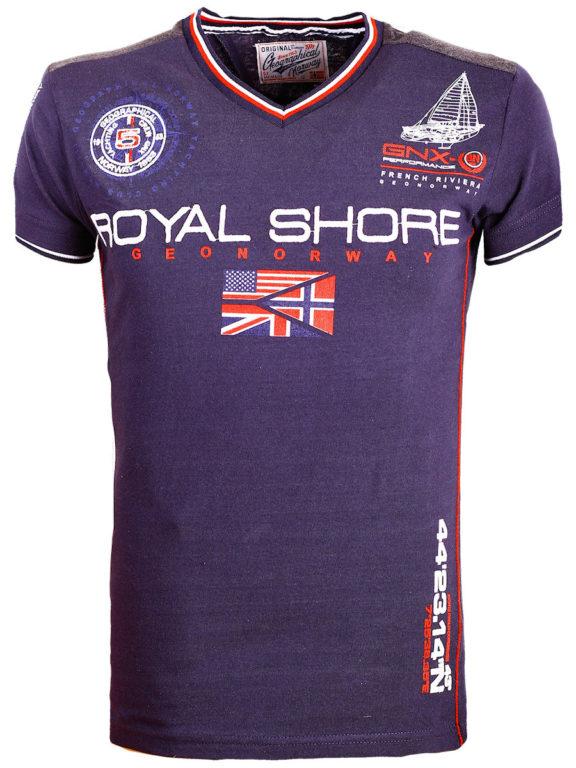 Geographical Norway t shirt heren royal shore blauw jamacho bendelli()