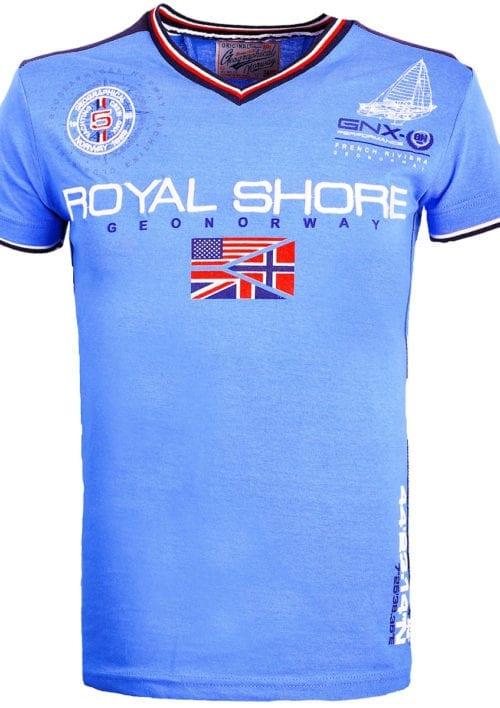 Geographical Norway t shirt heren royal shore kobalt jamacho bendelli()