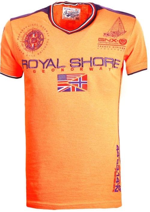 Geographical Norway t shirt heren royal shore koraal jamacho bendelli()