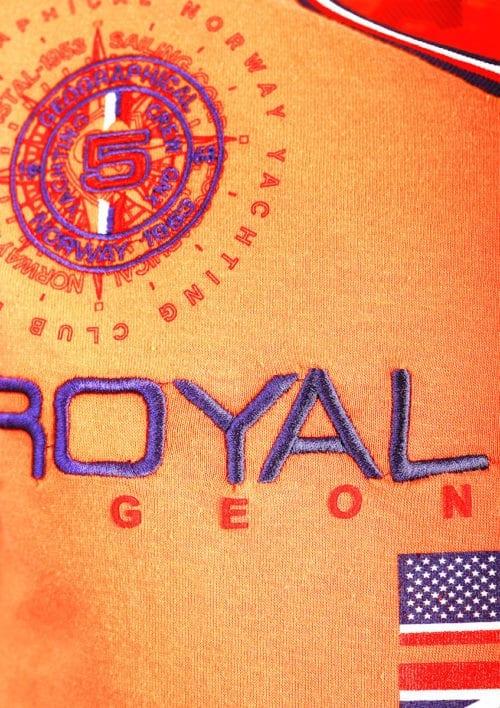 Geographical Norway t shirt heren royal shore koraal jamacho bendelli