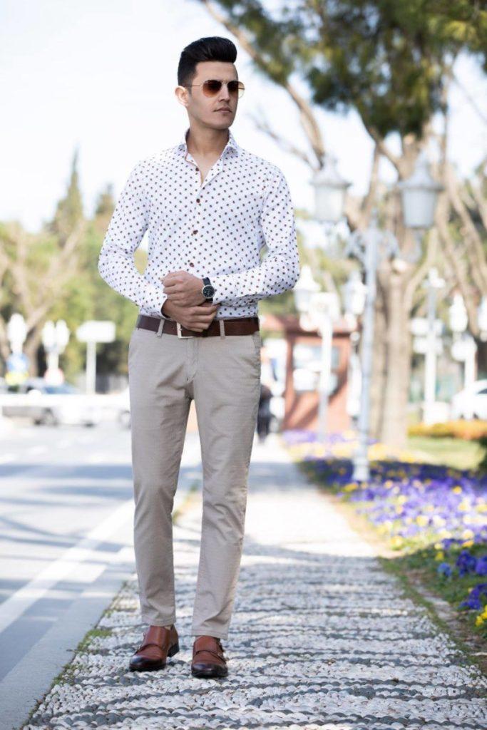 Tailored fit overhemd Wam Denim