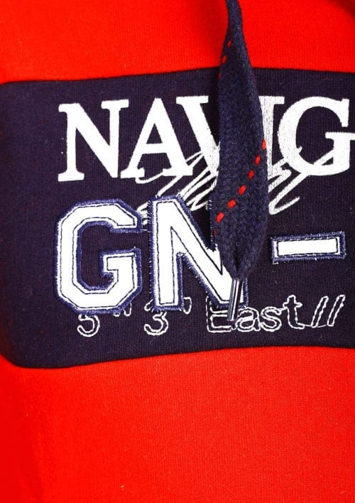 Geographical Norway Vest Rood Glapping met capuchon Navigator
