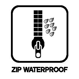 Waterdichte rits