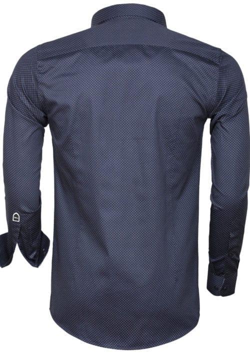 Wam Denim overhemd met motief Blouse Sevilla 75599 Navy achterkant