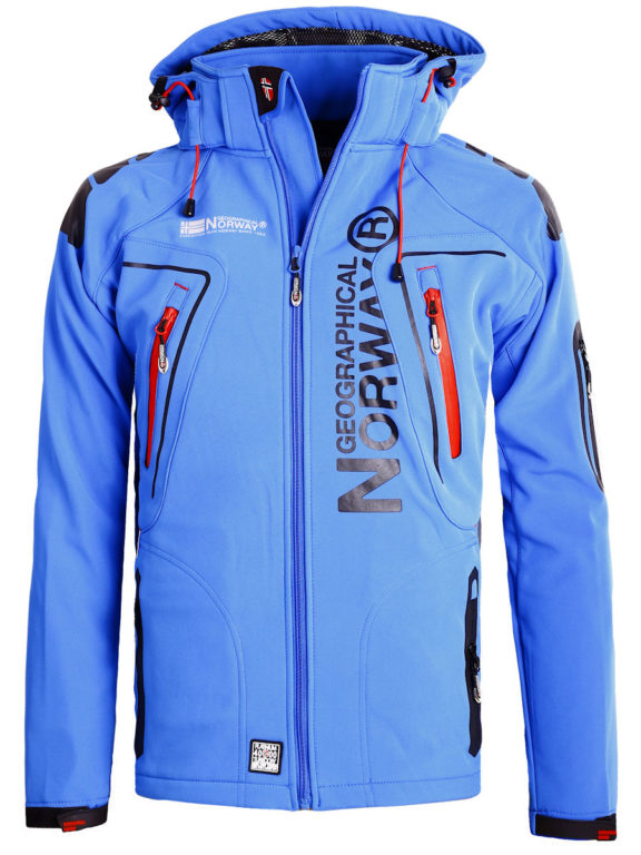 Geographical Norway Softshell jas kobalt heren turbo jacket Bendelli (2)