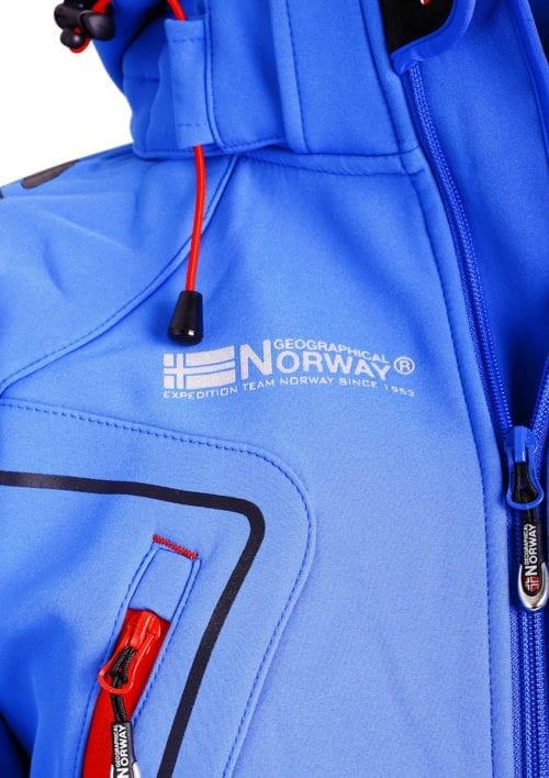 Geographical Norway Softshell jas kobalt heren turbo jacket Bendelli (3)