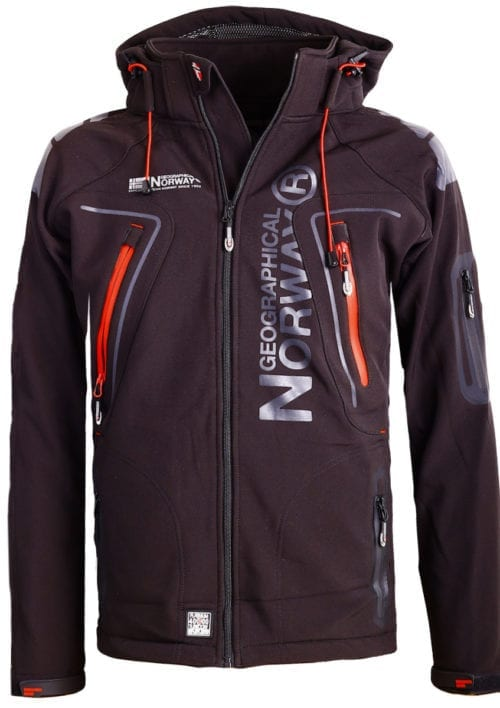Geographical Norway Softshell jas zwart heren turbo jacket Bendelli (2)
