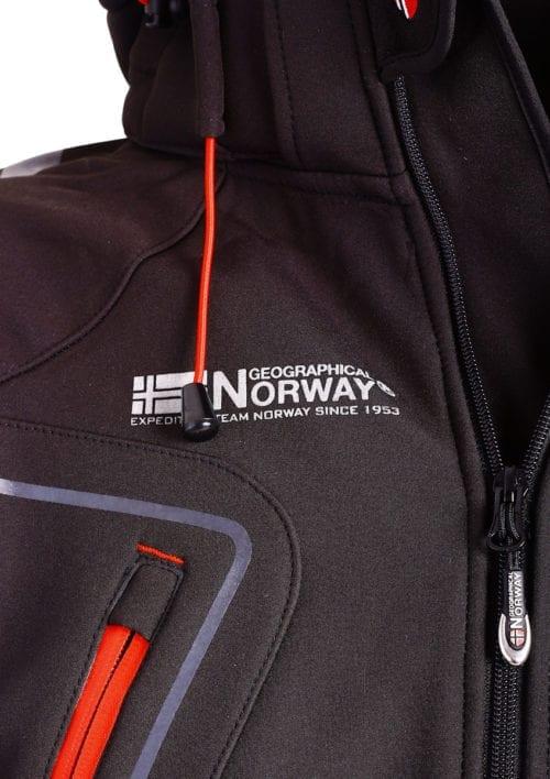 Geographical Norway Softshell jas zwart heren turbo jacket Bendelli (4)