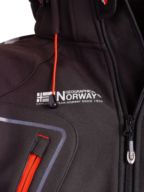 Geographical Norway Softshell jas zwart heren turbo jacket Bendelli (4)