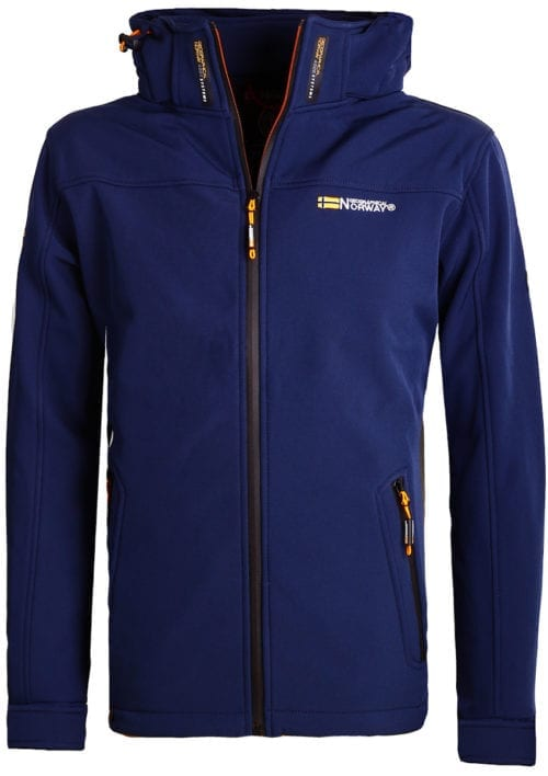 Geographical Norway softshell jas blauw heren met afneembare capuchon Takeaway(2)