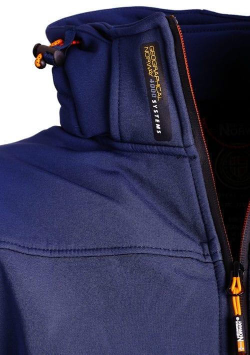 Geographical Norway softshell jas blauw heren met afneembare capuchon Takeaway(3)