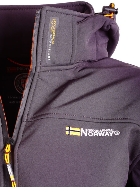 Geographical Norway softshell jas grijs heren met afneembare capuchon Takeaway (2)