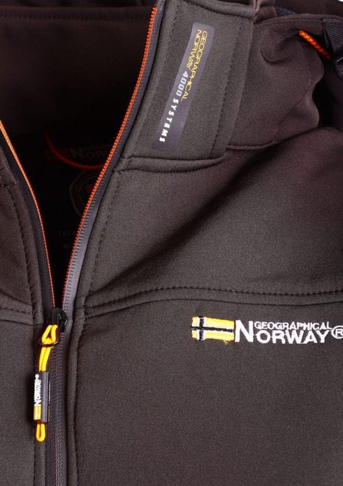 Geographical Norway softshell jas zwart heren met afneembare capuchon Takeaway(3)
