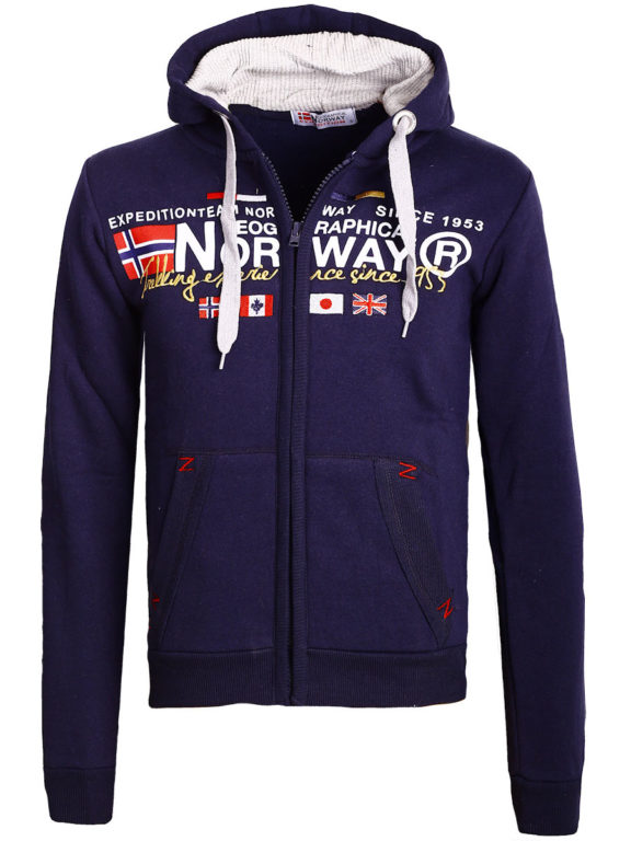 Geographical Norway vest heren sweater blauw Galliator bij Bendelli (2)