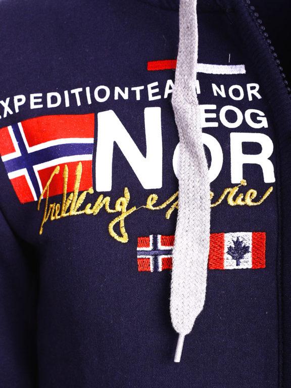 Geographical Norway vest heren sweater blauw Galliator bij Bendelli (3)