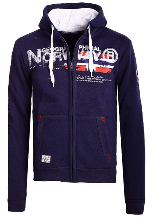 Geographical Norway vest heren sweater blauw Gisland bij Bendelli (2)