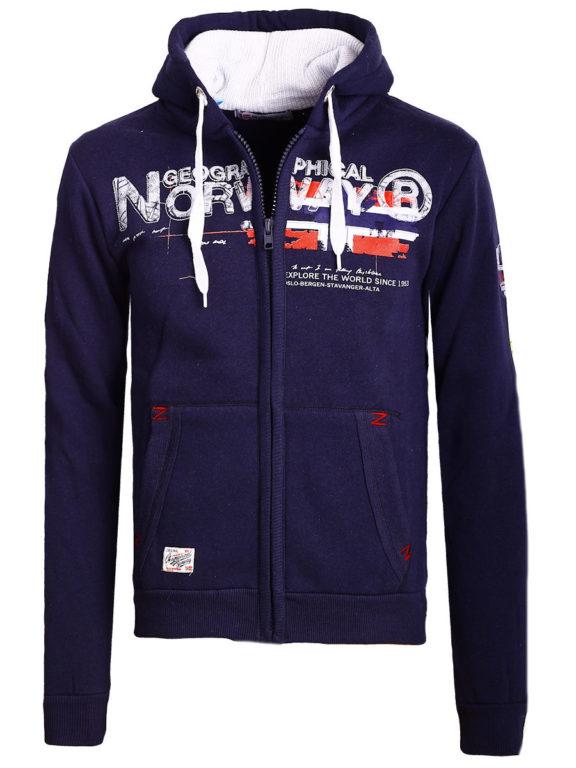 Geographical Norway vest heren sweater blauw Gisland bij Bendelli (2)