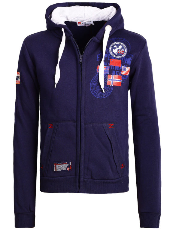 Geographical Norway vest heren sweater blauw Gundreal bij Bendelli (2)